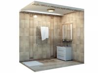 3D модель: дизайн ванной комнаты