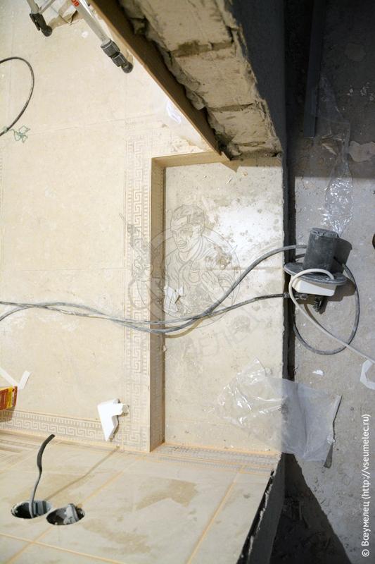Ремонт ванной комнаты подизайн-проекту: ступень