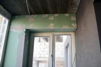 Утепление иобшивка балкона ГКЛ, установка перфоуглов