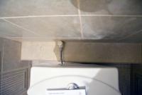 Ремонт туалета подизайн-проекту: выход воды длясливного бачка