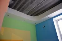 Готовый потолочный короб со светильниками вдетской