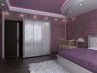 3D модель спальной комнаты