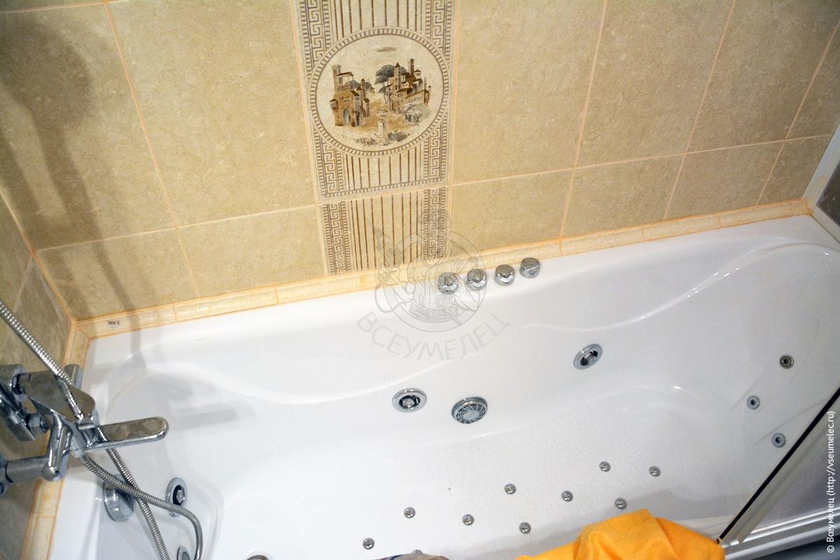 Ремонт ванной комнаты— ванная сгидромассажем