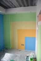 Секционная покраска стен вдетской