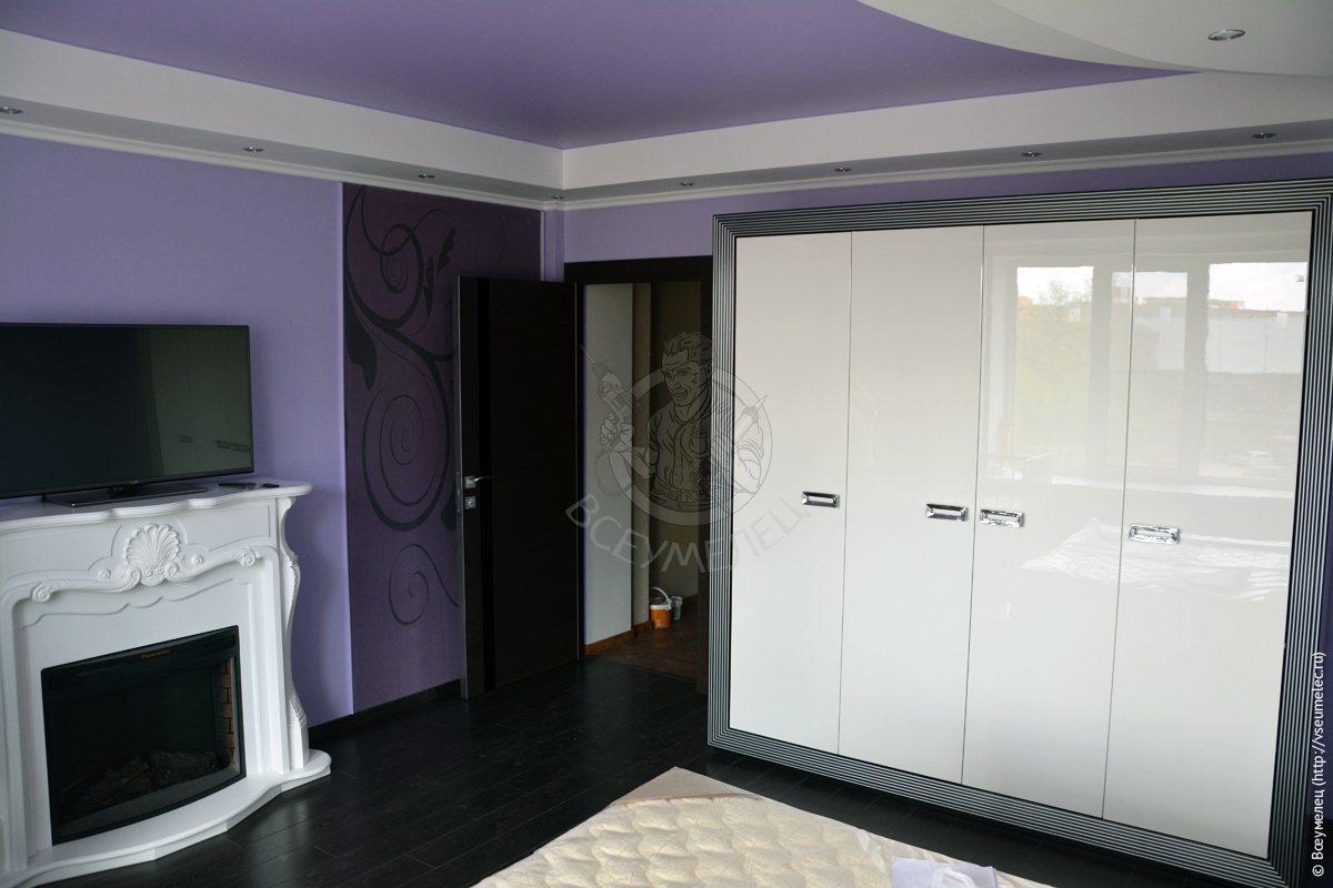 Ремонт вспальной комнате подизайн-проекту завершён
