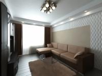 3D проект гостиной встиле модерн